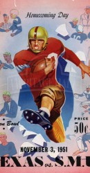 1951 SMU vs. Texas Program