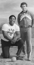 Michael Carter And Coach Ted McLaughin