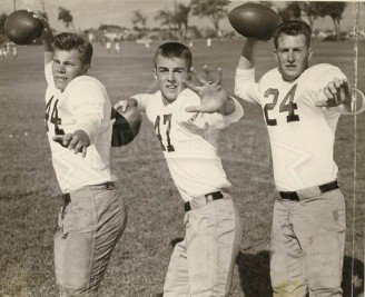 1950 Kyle Rote, Fred Benners, and Rusty Russell, Jr.