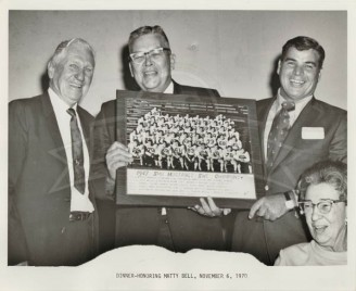 1970 Coach Bell, Earl Cook, Bob Ramsey, And Mrs. Bell