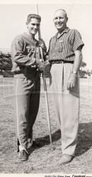 UT's Bruce Parker Meets SMU's Doc O'Neil SWC Record Holder From 1937 To 1957