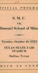 1923-SMU vs. Missouri School Of Mines