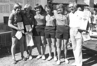 1979 National Champs Hession, Hall, Murphy, McGeorge, O'Brien And Coach Stewart