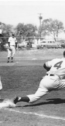 Jim Payne Making Putout During Texas Game (Malcolm Shaw Pitching)